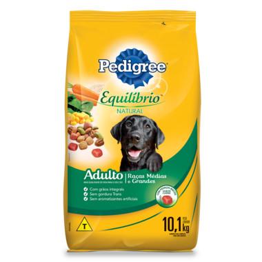 Ração para Cães Pedigree Equilíbrio Natural Adulto Raças Médias e Grandes 10,1Kg