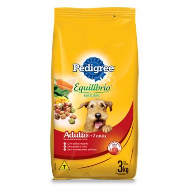 Ração para Cães Pedigree Equilíbrio Natural Adulto 7+ Anos 3Kg