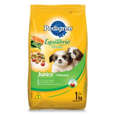 Ração para Cães Pedigree Equilíbrio Natural Junior Filhotes 1Kg