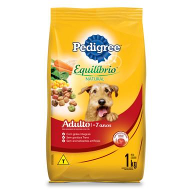 Ração para Cães Pedigree Equilíbrio Natural Adulto 7+ Anos 1Kg