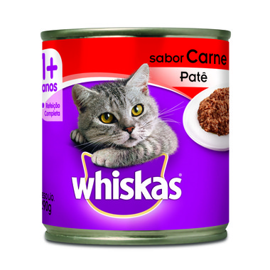 Alimento para Gatos Whiskas Carne Patê Lata 290g