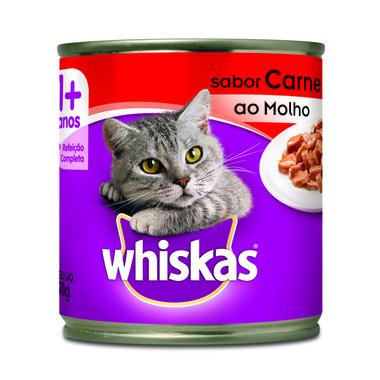 Alimento para Gatos Whiskas Adulto Carne Lata 290g