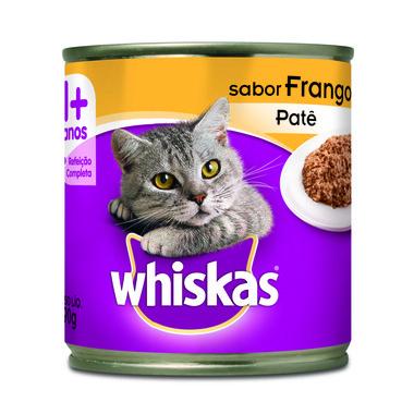 Alimento para Gatos Whiskas Frango Patê Lata 290g