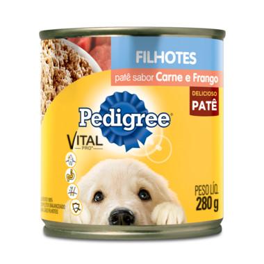 Alimento para Cães Pedigree Filhotes Carne e Frango Patê Lata 280g