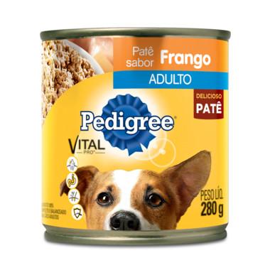 Alimento para Cães Pedigree Adulto Frango Patê Lata 280g