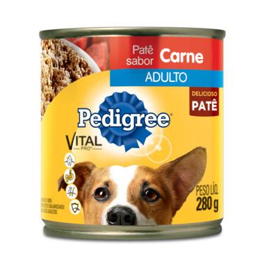 Alimento para Cães Pedigree Adulto Carne Patê Lata 280g
