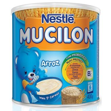 Cereal Infantil Nestlé Mucilon Arroz Lata 400g