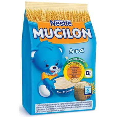 Cereal Infantil Nestlé Mucilon Arroz Sachê 230g