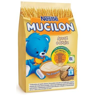 Cereal Infantil Nestlé Mucilon Arroz e Aveia Sachê 230g