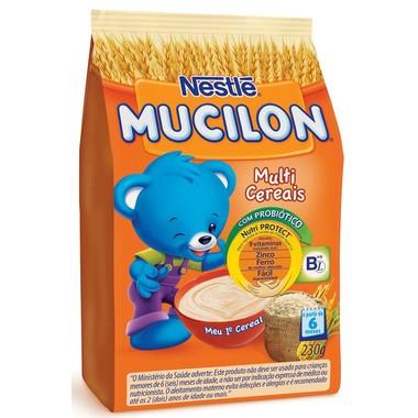 Cereal Infantil Nestlé Mucilon Multi Cereais Sachê 230g