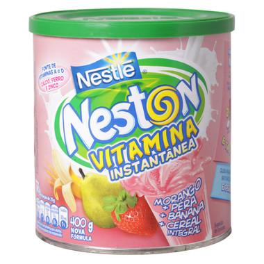Vitamina Instantânea Nestlé Neston Morango, Pera e Banana 400g