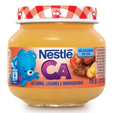 Papinha Nestlé de Carne, Legumes e Mandioquinha 115g