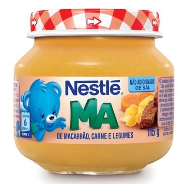 Papinha Nestlé de Macarrão, Carne e Legumes 115g