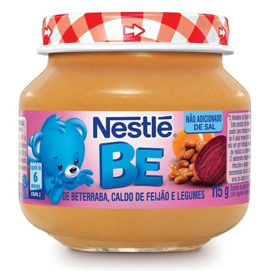Papinha Nestlé de Beterraba, Caldo de Feijão e Legumes 115g