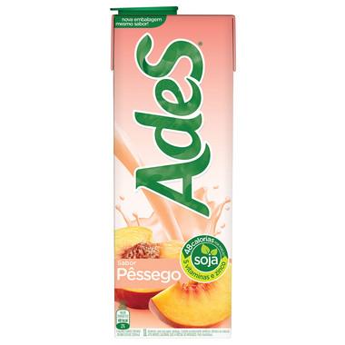 Bebida à Base de Soja Ades Pêssego 1L