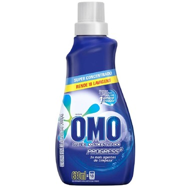 Lava Roupas Líquido Omo Progress Super Concentrado 630ml