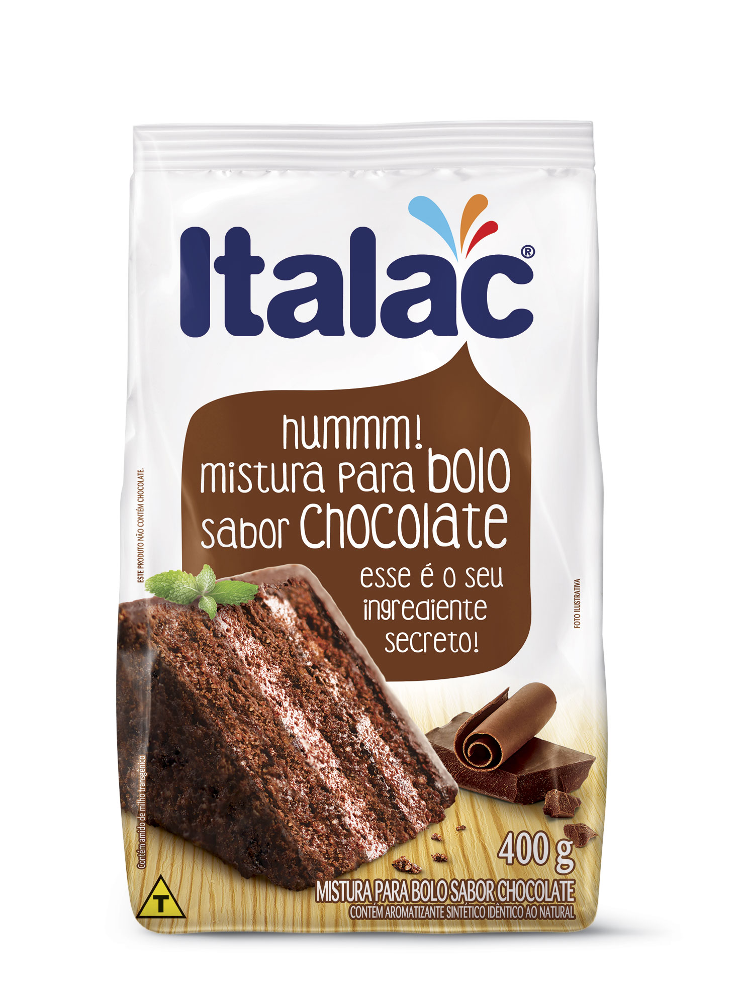 Mistura para Bolo Italac Sabor Chocolate 400g