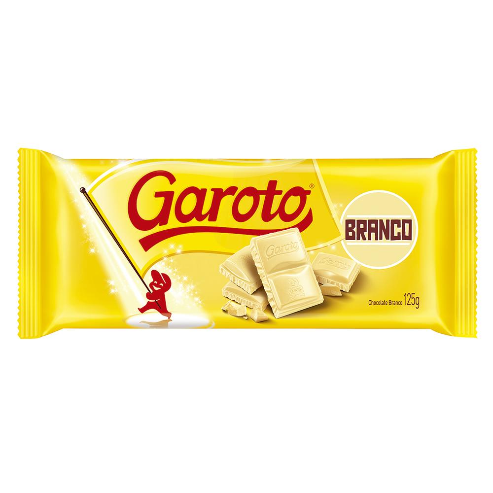 Chocolate Branco Garoto Tablete 125g