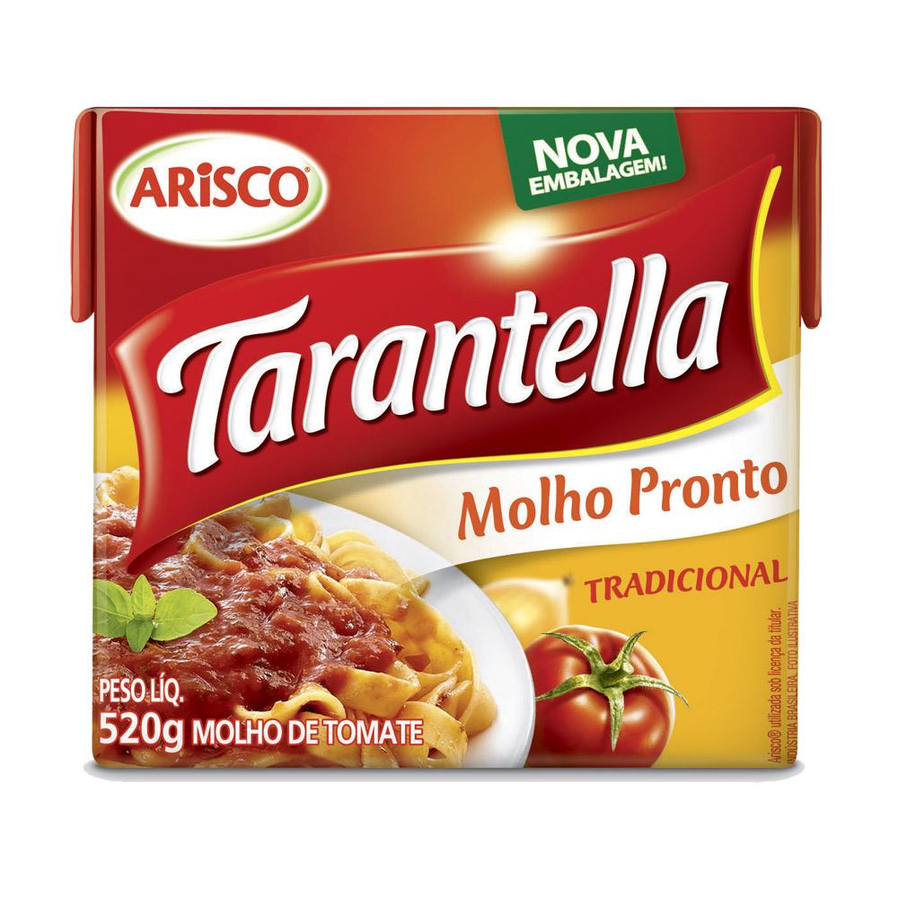 Molho de Tomate Tarantella Tradicional Caixa 520g