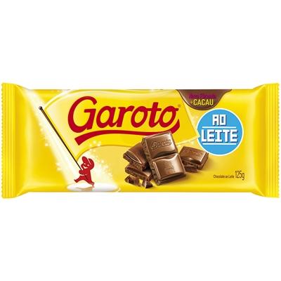 Chocolate ao Leite Garoto Tablete 125g
