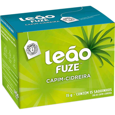 Chá Leão Fuze Capim-Cidreira c/15 saquinhos 15g