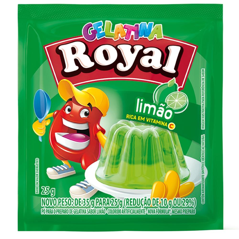 Gelatina em Pó Royal Limão 25g