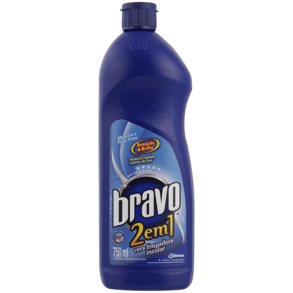 Cera Limpadora Incolor Bravo 2 em 1 - 750ml