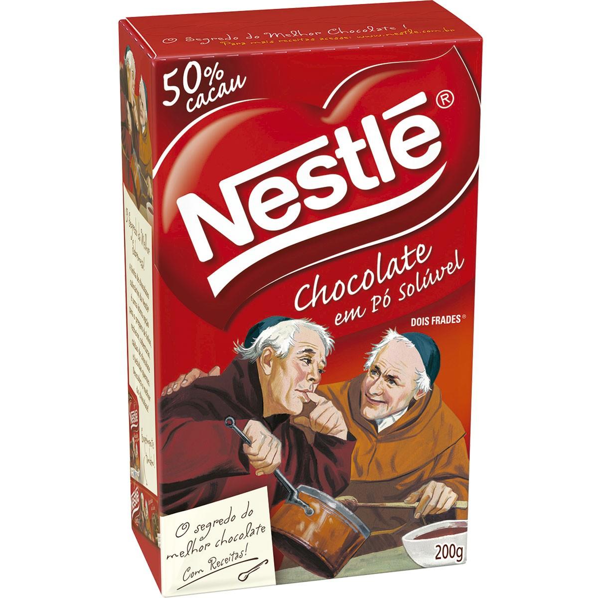 Chocolate em Pó Solúvel Nestlé Dois Frades 200g