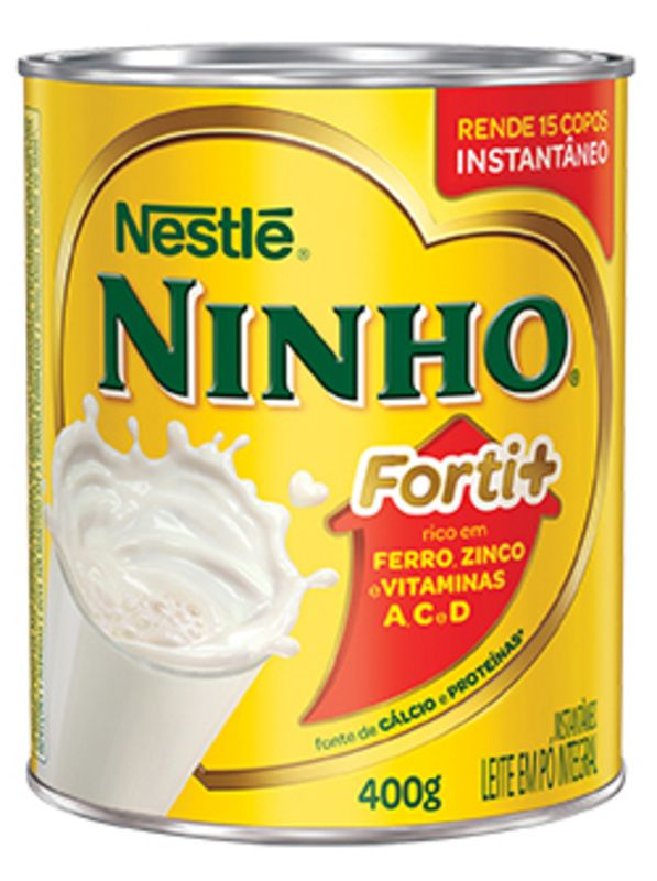 Leite em Pó NINHO Forti+ Integral Instantâneo 400g