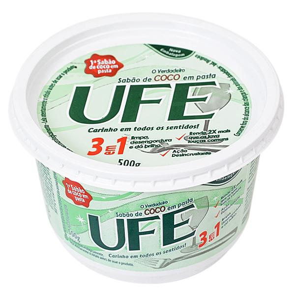 Sabão em Pasta UFE Coco 3 em 1 - 500g