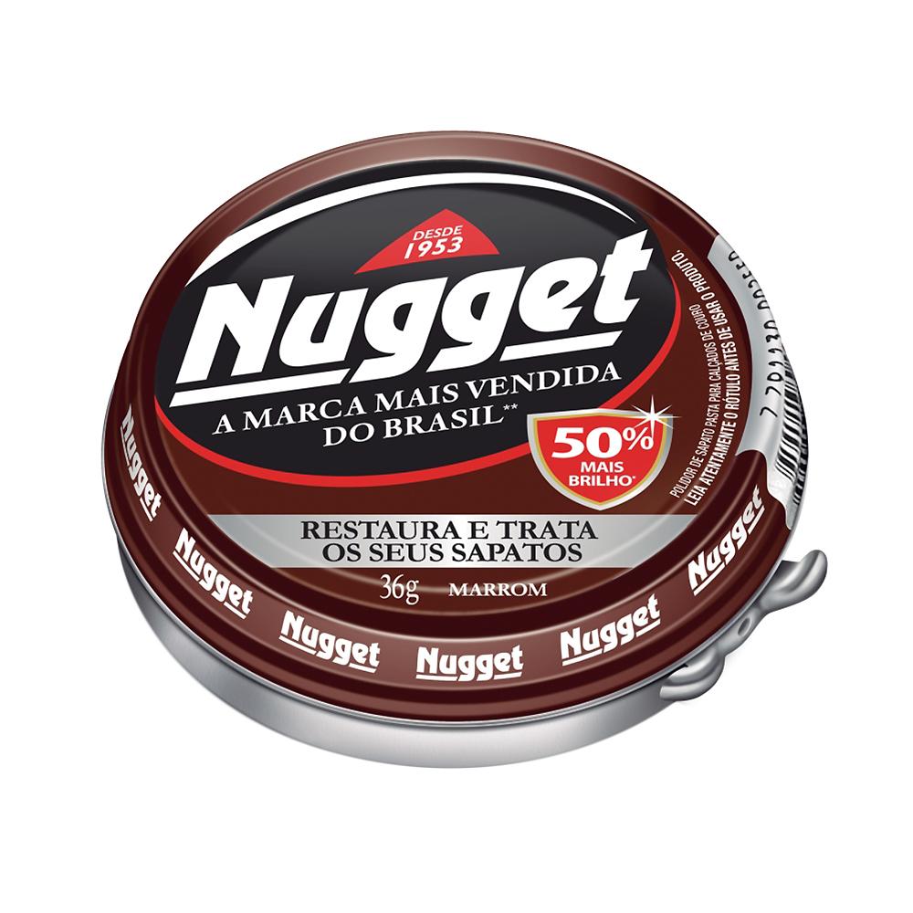 Cera Nugget em Pasta para Calçados Marrom 36g