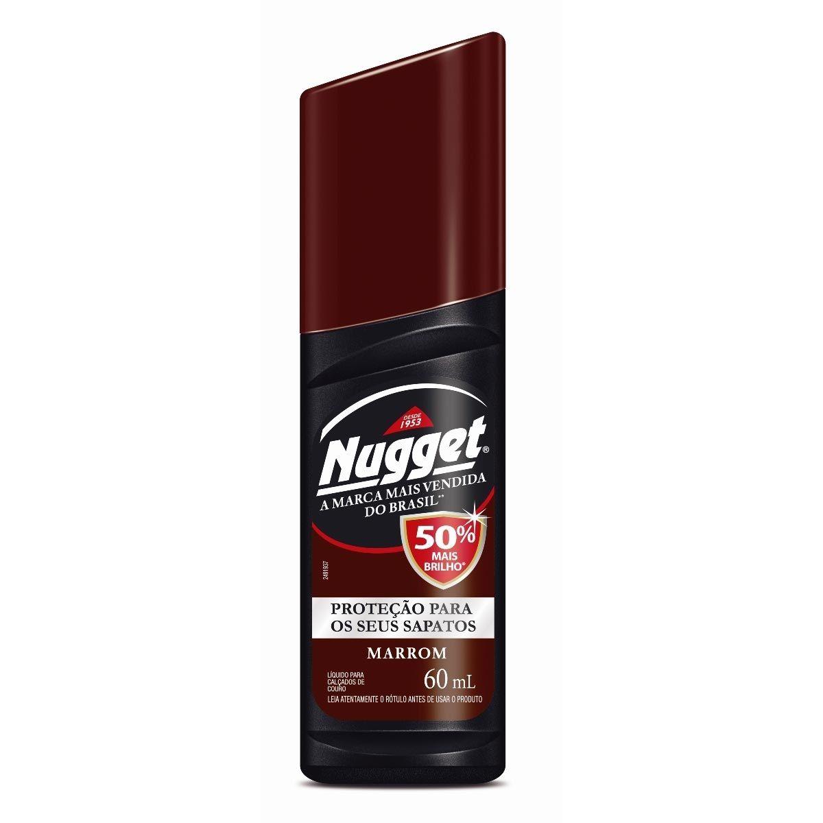 Cera Líquida Nugget para Calçados Marrom 60ml