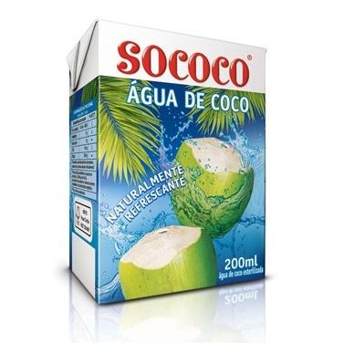 Água de Coco Sococo Caixinha 200ml