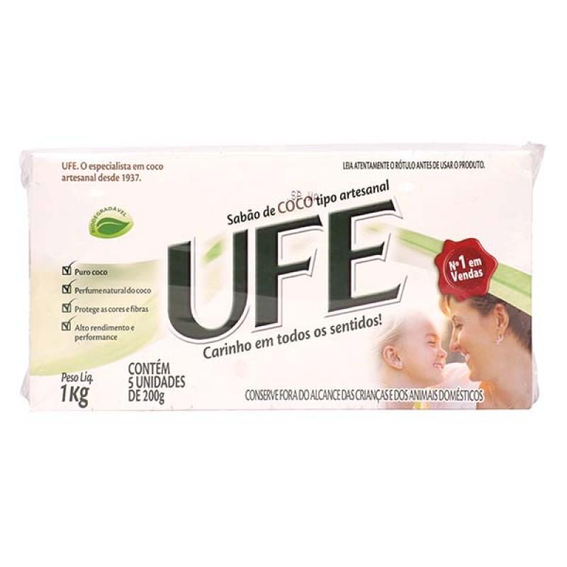 Sabão de Coco UFE em Barra c/5 - 1Kg