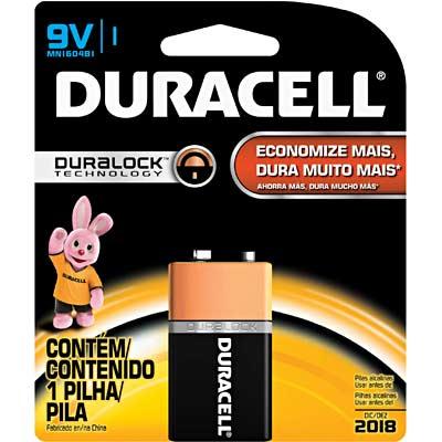Pilha Alcalina Duracell Duralock 9V