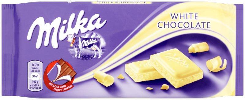 Chocolate Branco Milka 100g