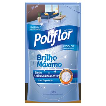 Cera Líquida Poliflor Brilho Máximo Incolor Refil 500ml