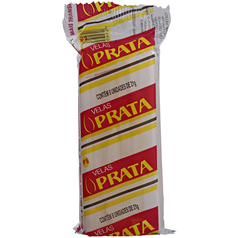 Vela Prata 145mm x 15mm c/8 - 168g