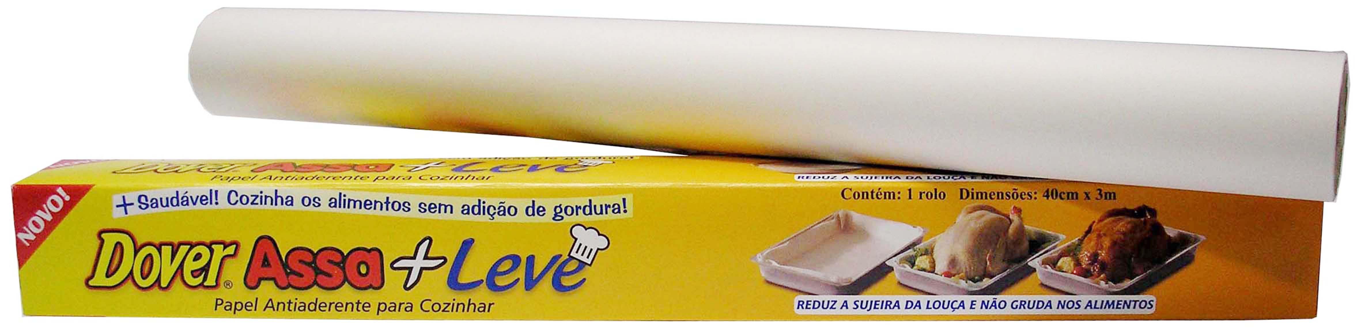 Papel Antiaderente Dover Assa+Leve para Cozinhar 40cm x 3m