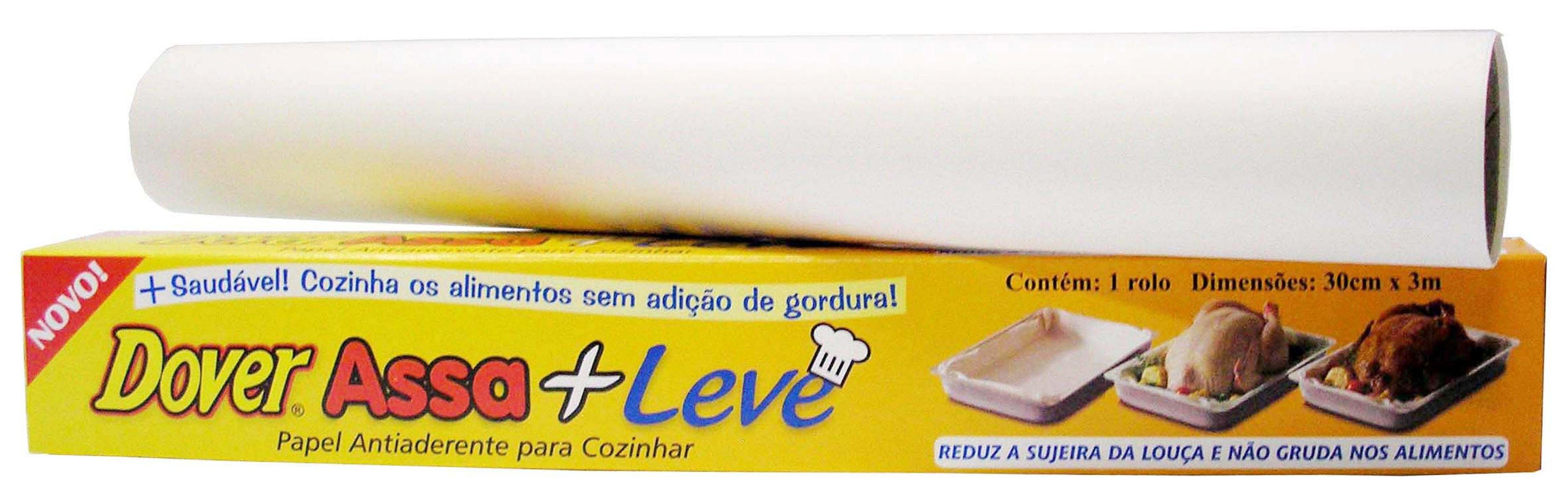 Papel Antiaderente Dover Assa+Leve para Cozinhar 30cm x 3m