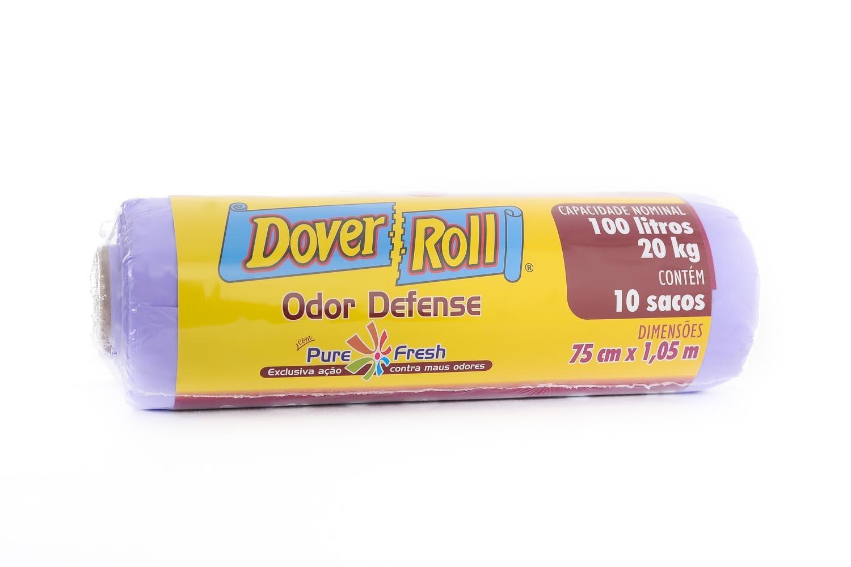 Saco para Lixo Dover-Roll Odor Defense 100L c/10