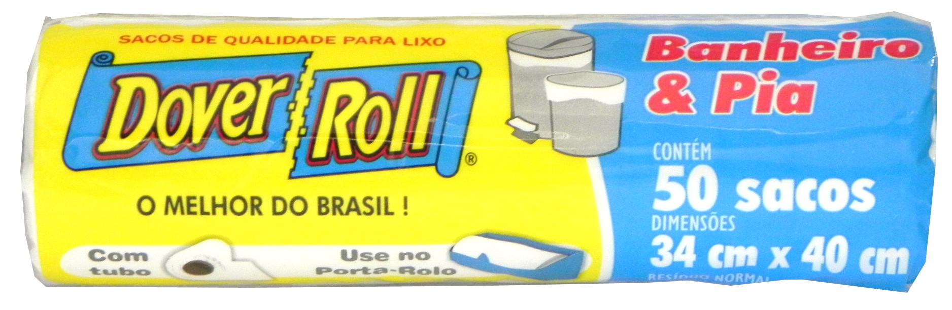 Saco para Lixo Dover-Roll Banheiro & Pia c/50