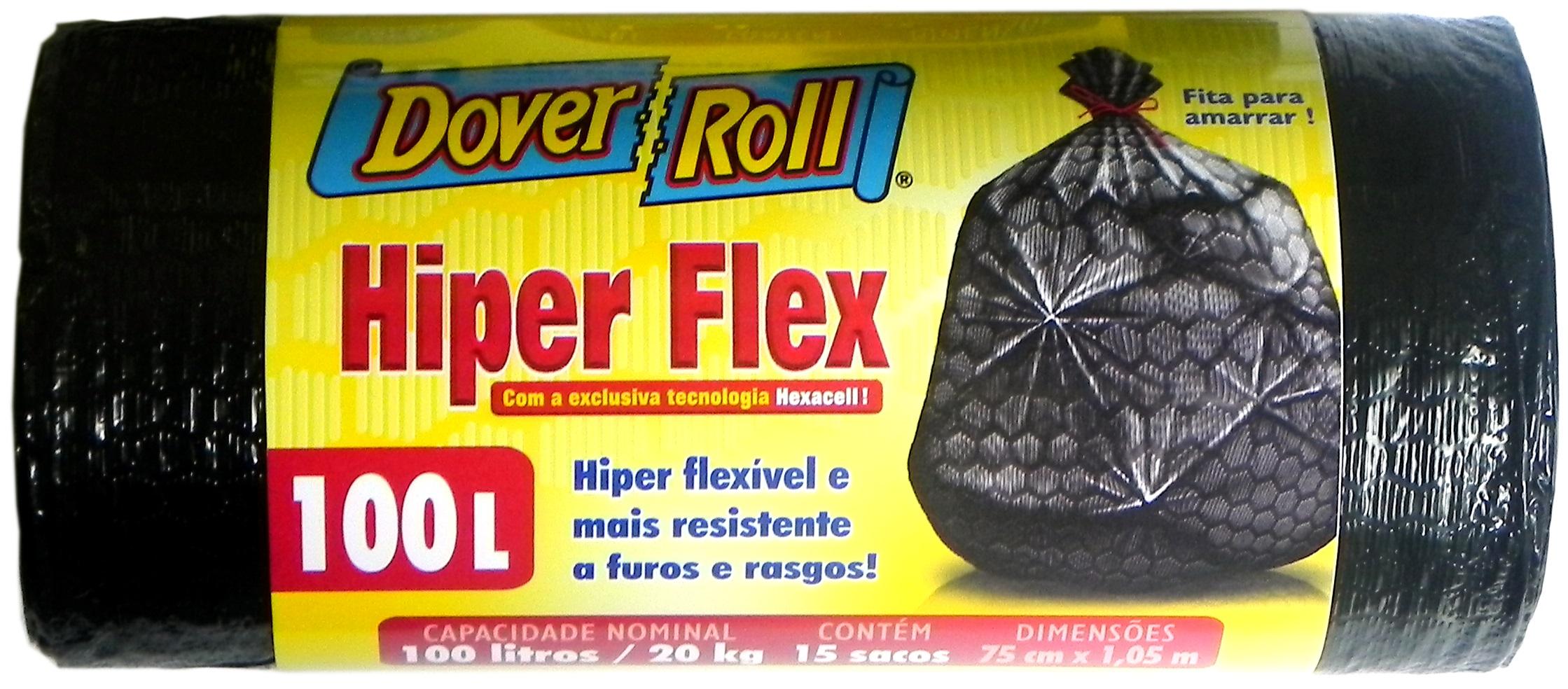 Saco para Lixo Dover-Roll Hiper Flex 100L c/15