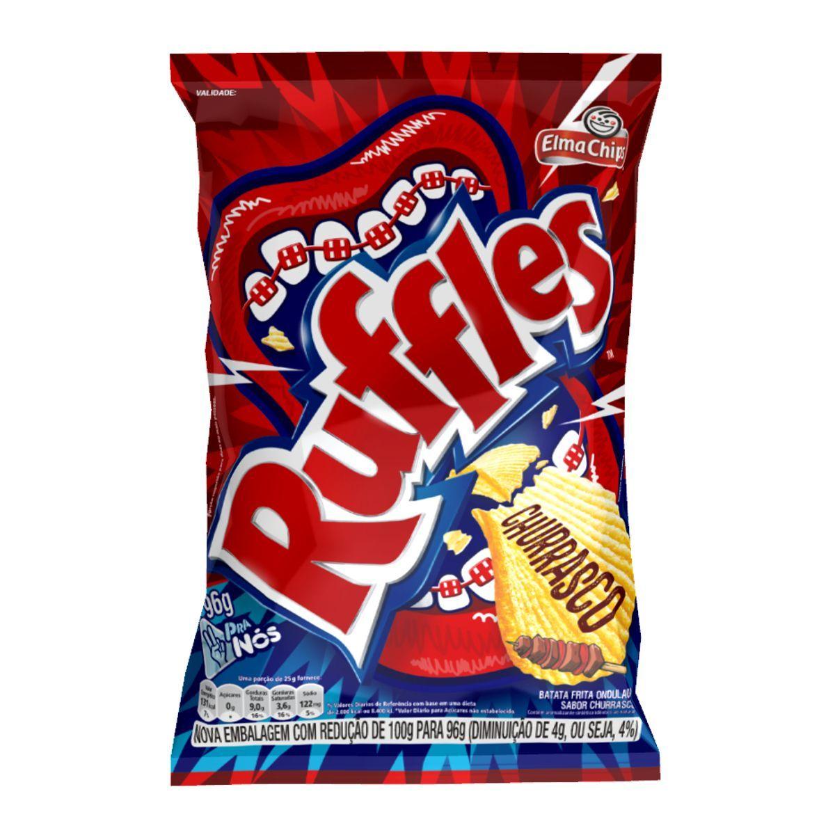 Batata Elma Chips Ruffles Churrasco 96g
