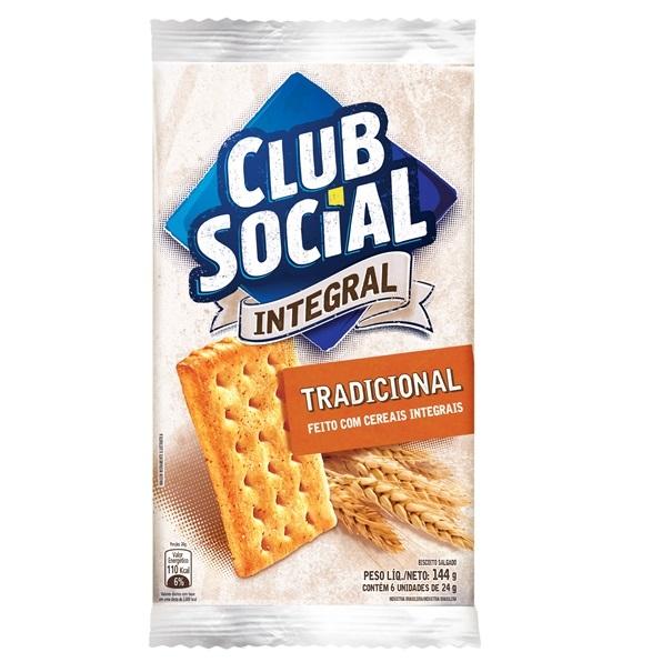 Biscoito Salgado Club Social Integral 144g