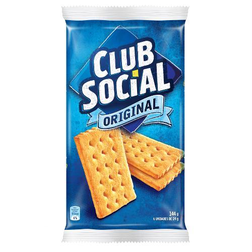 Biscoito Salgado Club Social Original 144g