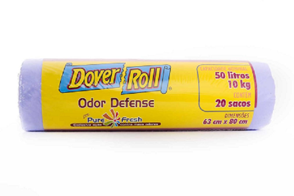 Saco para Lixo Dover-Roll Odor Defense 50L c/20