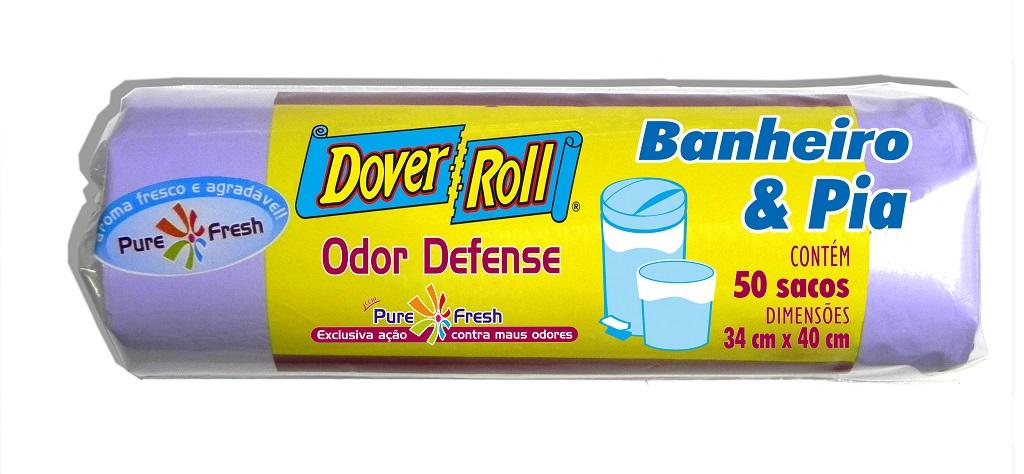 Saco para Lixo Dover-Roll Odor Defense Banheiro e Pia c/50