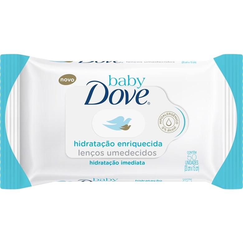 Lenço Umedecido baby Dove Hidratação Enriquecida c/50