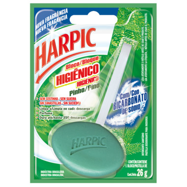 Bloco Higiênico Harpic Pinho 26g